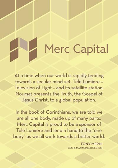 Tony Merhi - proud sponsor of Tele Lumiere